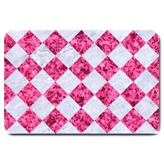 Square2 White Marble & Pink Marble Large Doormat  by trendistuff