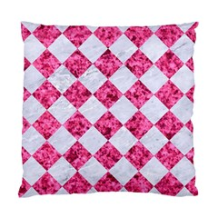 Square2 White Marble & Pink Marble Standard Cushion Case (one Side) by trendistuff