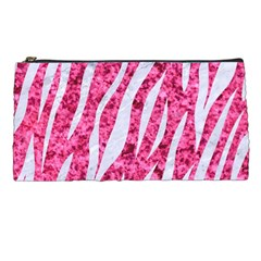 Skin3 White Marble & Pink Marble Pencil Cases by trendistuff