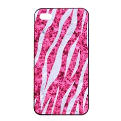 Skin3 White Marble & Pink Marble Apple Iphone 4/4s Seamless Case (black) by trendistuff