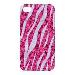 Skin3 White Marble & Pink Marble Apple Iphone 4/4s Hardshell Case by trendistuff
