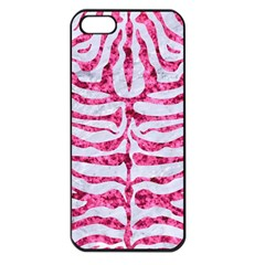 Skin2 White Marble & Pink Marble (r) Apple Iphone 5 Seamless Case (black) by trendistuff