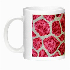 Skin1 White Marble & Pink Marble (r) Night Luminous Mugs
