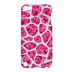 Skin1 White Marble & Pink Marble (r) Apple Ipod Touch 5 Hardshell Case by trendistuff