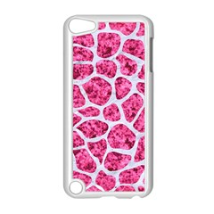 Skin1 White Marble & Pink Marble (r) Apple Ipod Touch 5 Case (white) by trendistuff