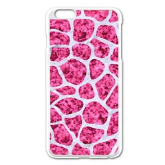 Skin1 White Marble & Pink Marble (r) Apple Iphone 6 Plus/6s Plus Enamel White Case by trendistuff