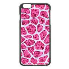 Skin1 White Marble & Pink Marble (r) Apple Iphone 6 Plus/6s Plus Black Enamel Case by trendistuff