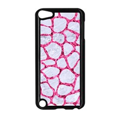 Skin1 White Marble & Pink Marble Apple Ipod Touch 5 Case (black) by trendistuff