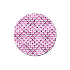 Scales3 White Marble & Pink Marble (r) Magnet 3  (round) by trendistuff