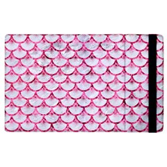 Scales3 White Marble & Pink Marble (r) Apple Ipad 3/4 Flip Case by trendistuff