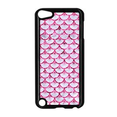 Scales3 White Marble & Pink Marble (r) Apple Ipod Touch 5 Case (black) by trendistuff
