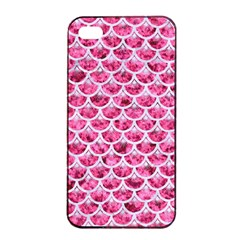 Scales3 White Marble & Pink Marble Apple Iphone 4/4s Seamless Case (black) by trendistuff