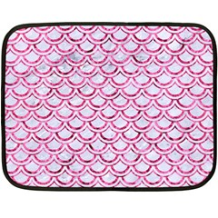 Scales2 White Marble & Pink Marble (r) Double Sided Fleece Blanket (mini)  by trendistuff