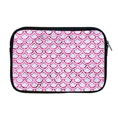 Scales2 White Marble & Pink Marble (r) Apple Macbook Pro 17  Zipper Case