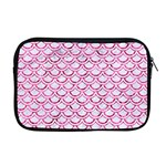 SCALES2 WHITE MARBLE & PINK MARBLE (R) Apple MacBook Pro 17  Zipper Case Front