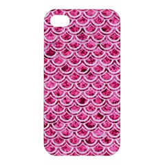 Scales2 White Marble & Pink Marble Apple Iphone 4/4s Premium Hardshell Case by trendistuff