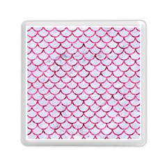 Scales1 White Marble & Pink Marble (r) Memory Card Reader (square)  by trendistuff