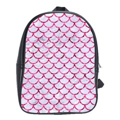 Scales1 White Marble & Pink Marble (r) School Bag (xl) by trendistuff