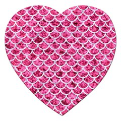Scales1 White Marble & Pink Marble Jigsaw Puzzle (heart)