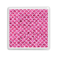 Scales1 White Marble & Pink Marble Memory Card Reader (square)  by trendistuff