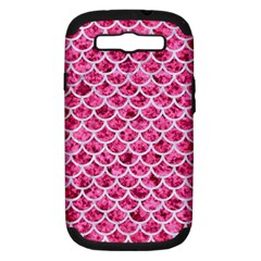 Scales1 White Marble & Pink Marble Samsung Galaxy S Iii Hardshell Case (pc+silicone) by trendistuff