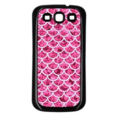 Scales1 White Marble & Pink Marble Samsung Galaxy S3 Back Case (black) by trendistuff
