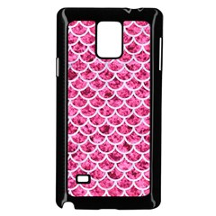 Scales1 White Marble & Pink Marble Samsung Galaxy Note 4 Case (black)