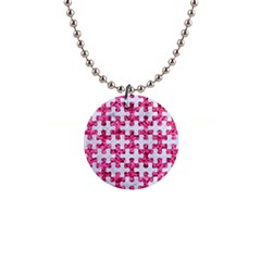 Puzzle1 White Marble & Pink Marble Button Necklaces by trendistuff