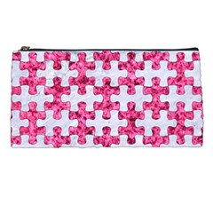 Puzzle1 White Marble & Pink Marble Pencil Cases by trendistuff