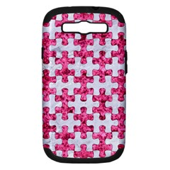 Puzzle1 White Marble & Pink Marble Samsung Galaxy S Iii Hardshell Case (pc+silicone) by trendistuff
