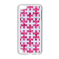 Puzzle1 White Marble & Pink Marble Apple Ipod Touch 5 Case (white) by trendistuff