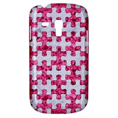 Puzzle1 White Marble & Pink Marble Galaxy S3 Mini by trendistuff