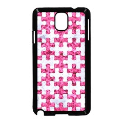 Puzzle1 White Marble & Pink Marble Samsung Galaxy Note 3 Neo Hardshell Case (black) by trendistuff