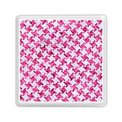 Houndstooth2 White Marble & Pink Marble Memory Card Reader (square)  by trendistuff