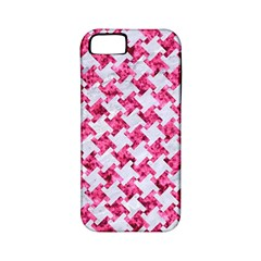 Houndstooth2 White Marble & Pink Marble Apple Iphone 5 Classic Hardshell Case (pc+silicone) by trendistuff