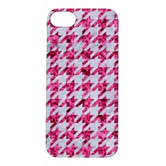 Houndstooth1 White Marble & Pink Marble Apple Iphone 5s/ Se Hardshell Case by trendistuff