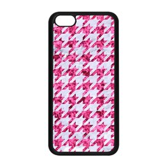 Houndstooth1 White Marble & Pink Marble Apple Iphone 5c Seamless Case (black) by trendistuff
