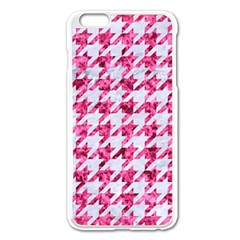 Houndstooth1 White Marble & Pink Marble Apple Iphone 6 Plus/6s Plus Enamel White Case by trendistuff