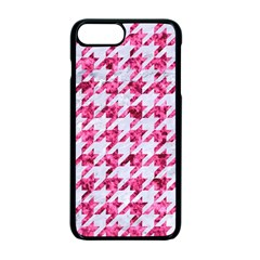 Houndstooth1 White Marble & Pink Marble Apple Iphone 7 Plus Seamless Case (black) by trendistuff