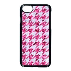 Houndstooth1 White Marble & Pink Marble Apple Iphone 8 Seamless Case (black) by trendistuff