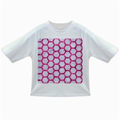 Hexagon2 White Marble & Pink Marble (r) Infant/toddler T Shirts by trendistuff