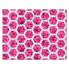 Hexagon2 White Marble & Pink Marble Rectangular Jigsaw Puzzl by trendistuff