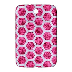 Hexagon2 White Marble & Pink Marble Samsung Galaxy Note 8 0 N5100 Hardshell Case  by trendistuff