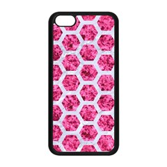 Hexagon2 White Marble & Pink Marble Apple Iphone 5c Seamless Case (black) by trendistuff
