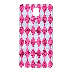 Diamond1 White Marble & Pink Marble Samsung Galaxy Note 3 N9005 Hardshell Back Case by trendistuff