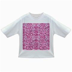 Damask2 White Marble & Pink Marble (r) Infant/toddler T Shirts by trendistuff