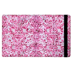 Damask2 White Marble & Pink Marble (r) Apple Ipad 3/4 Flip Case by trendistuff