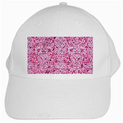 Damask2 White Marble & Pink Marble White Cap by trendistuff