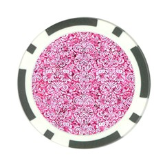 Damask2 White Marble & Pink Marble Poker Chip Card Guard by trendistuff
