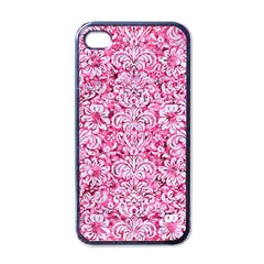 Damask2 White Marble & Pink Marble Apple Iphone 4 Case (black) by trendistuff